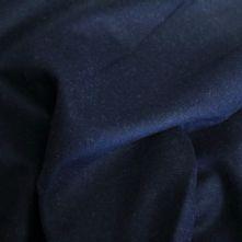 Dark Navy Wool Flannel Fabric Remnant x 0.75m